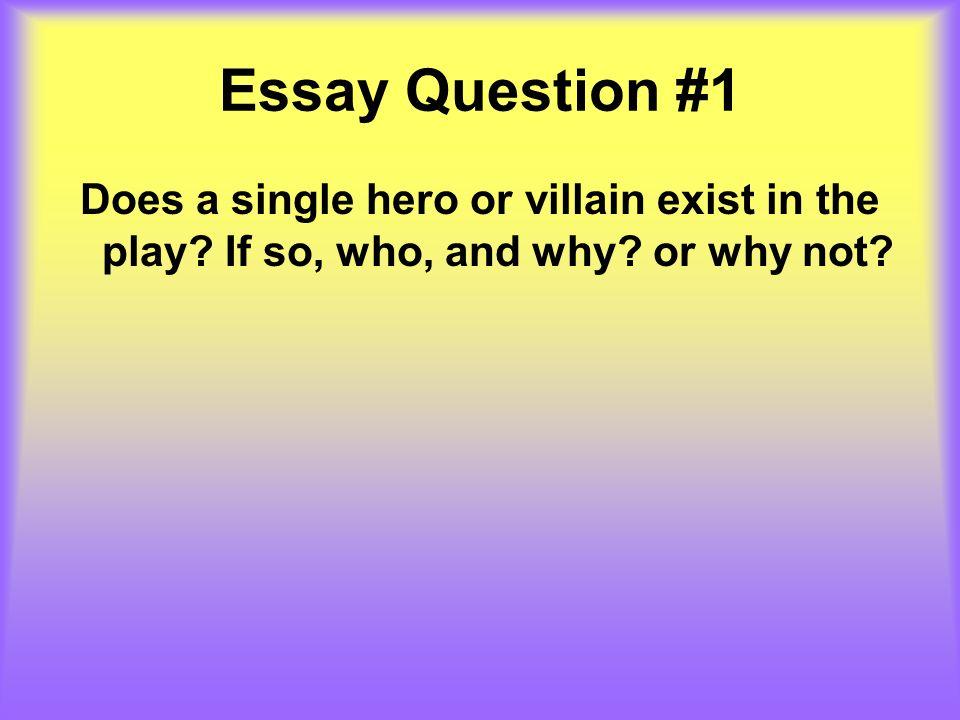 Do heroes exist essay