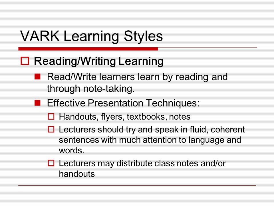 conclusion learning styles Learning styles research has been vastly oversold as a teaching tool, four psychologists argue in a new paper learning styles research has been vastly oversold.