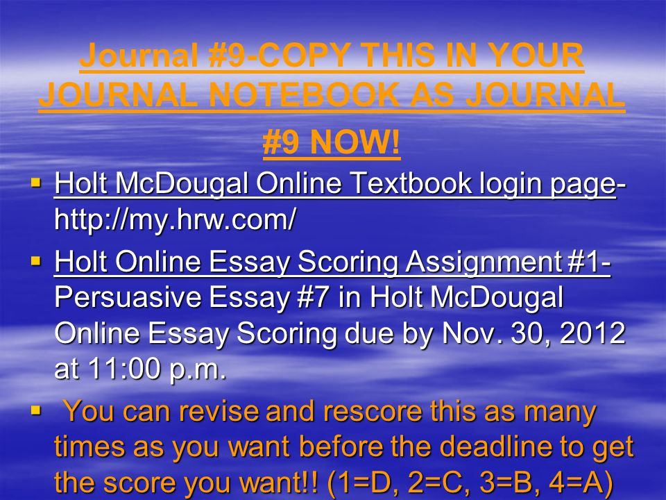 online essay scorer Professional hand-scoring services online testing after students' essays are submitted, write score hand-scores each student's essay analytically using.