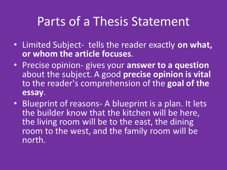 two part thesis statement