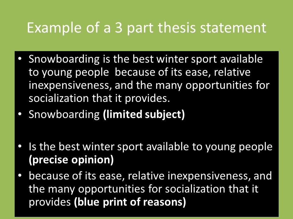 strong thesis statements for research papers
