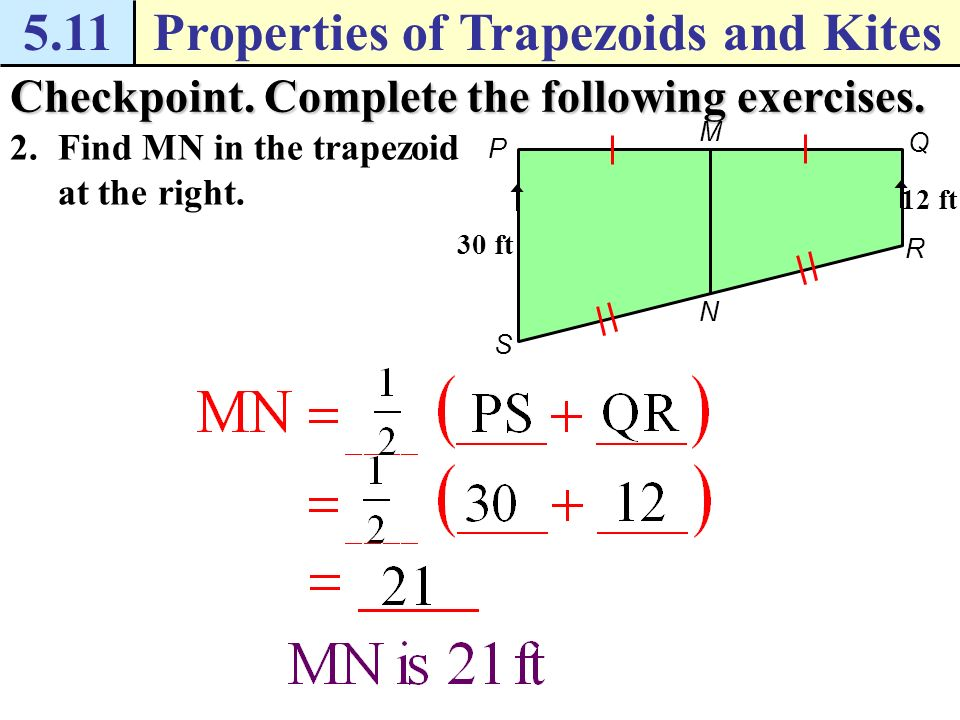 511properties of trapezoids and kites example 1 use a coordinate 511properties of trapezoids and kites example 3 use the midsegment of a trapezoids solution in ccuart Choice Image