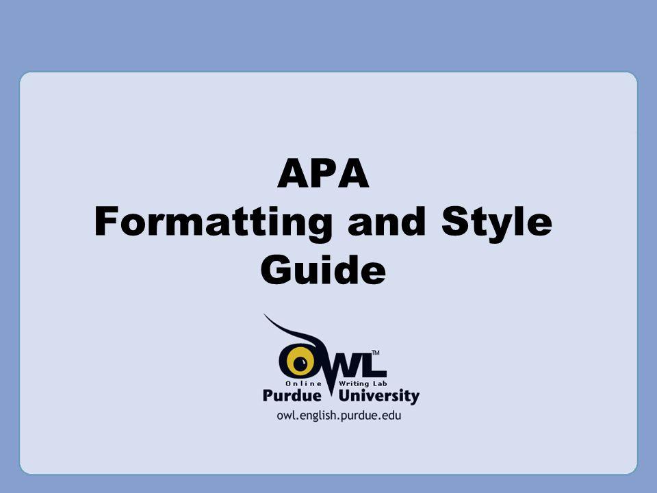 american psychological association documentation style