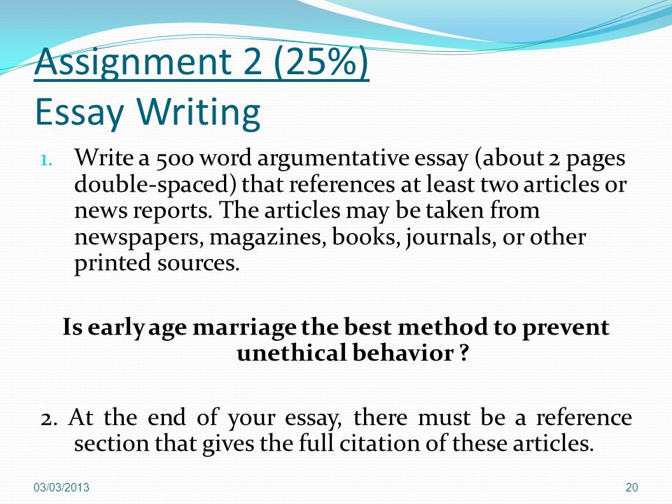 tips on writing argumentative essays