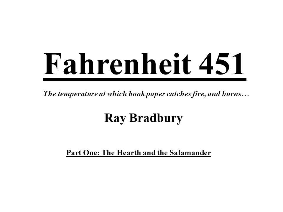 Fahrenheit 451 Ray Bradbury The Temperature At Which Book Paper