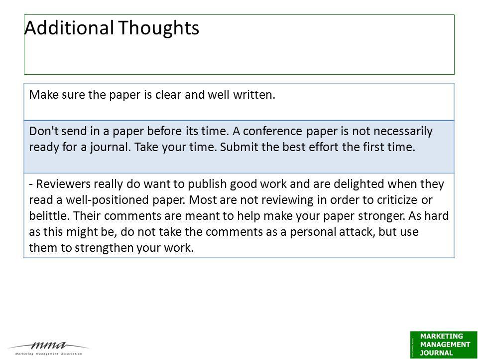 Well written paper