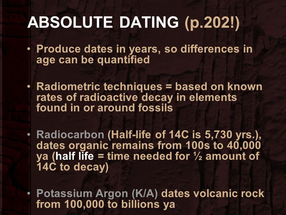 Relative age hookup with radiometric hookup