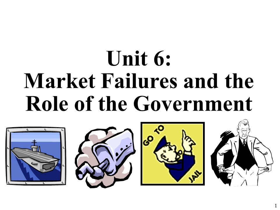 Unit 6: Market Failures and the Role of the Government 1