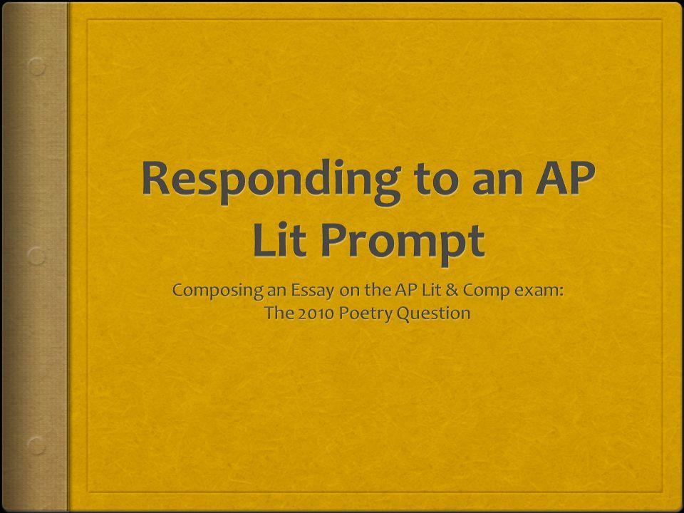 ap literature exam essay
