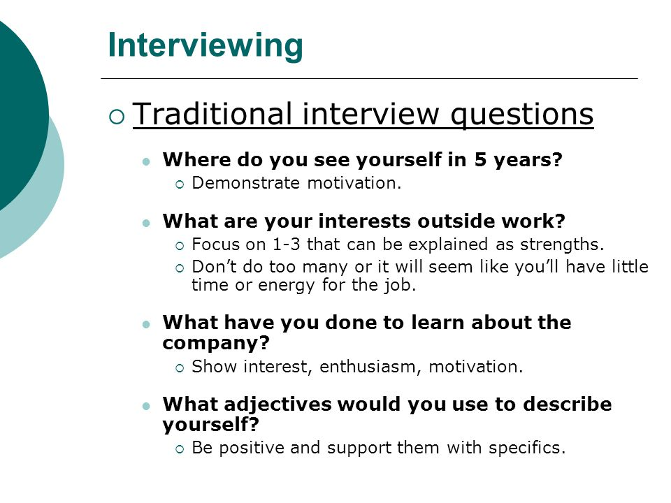 interview questions where do you see yourself in 5 years