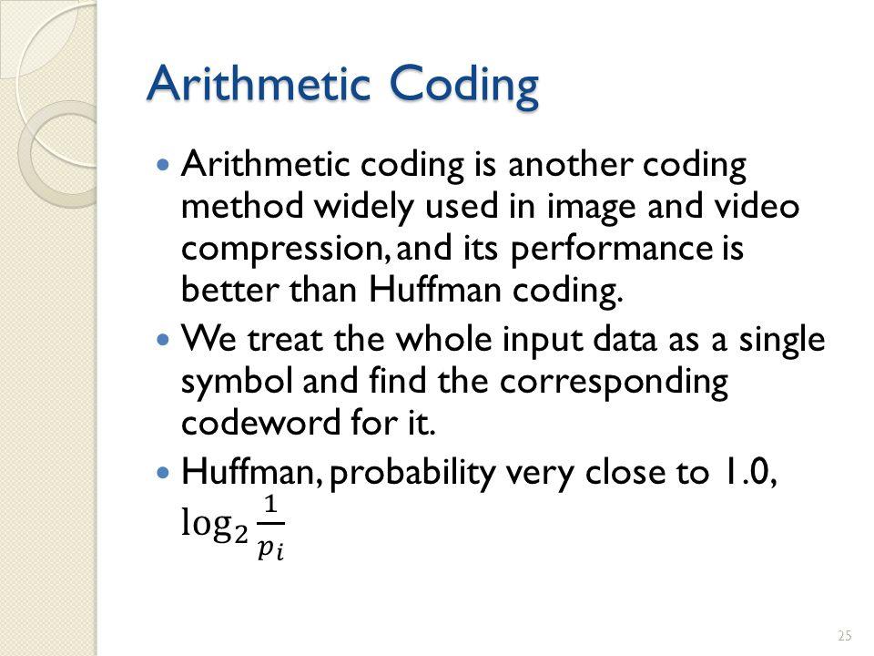 Arithmetic Coding 25