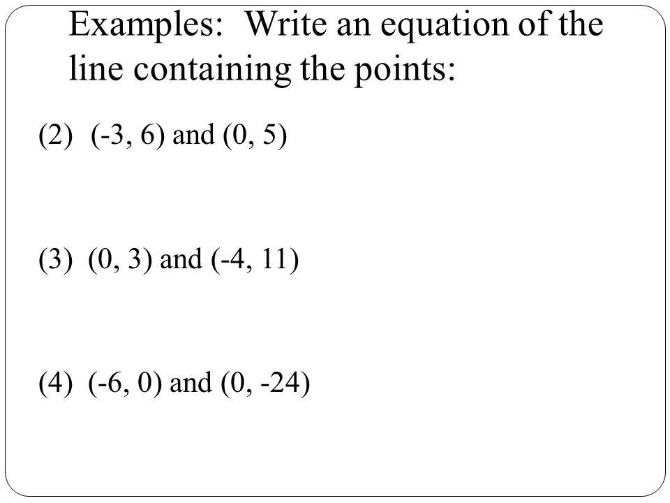 How do I write an easy 10 points?