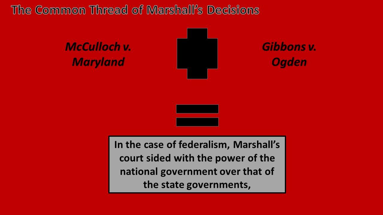 McCulloch v. Maryland Gibbons v.