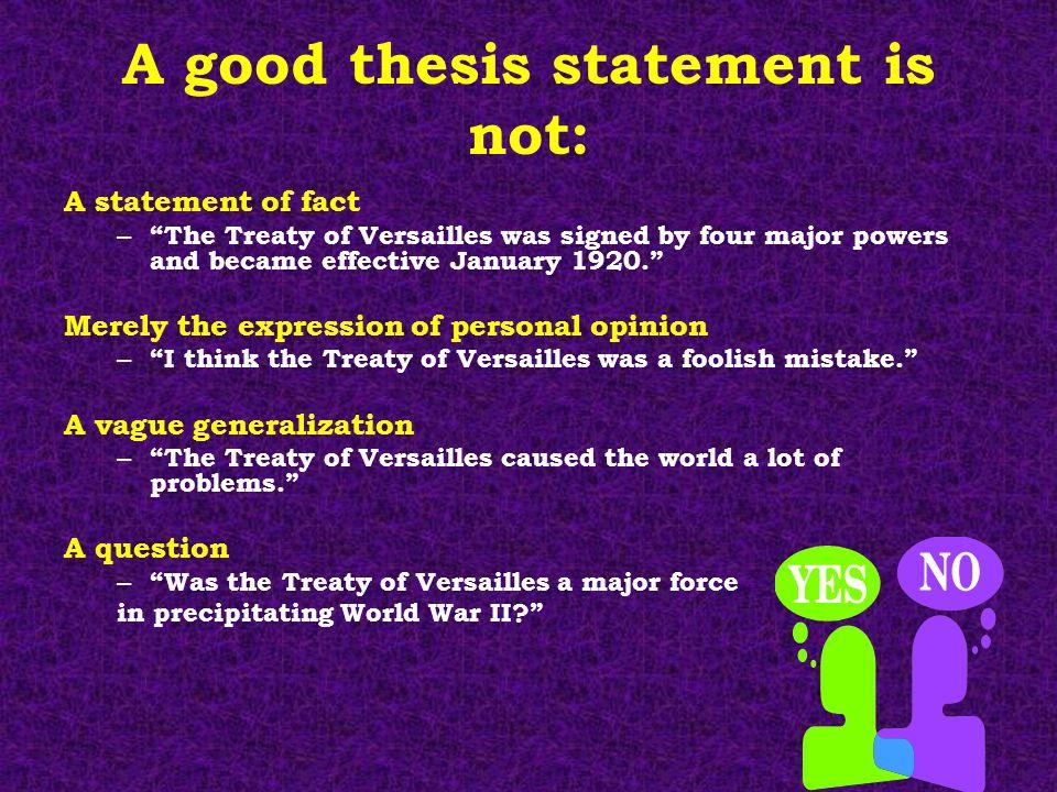 generalization thesis statement