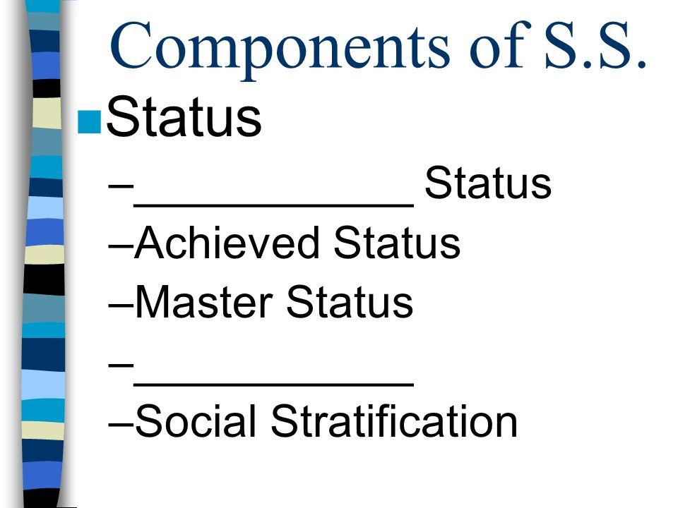 Components of S.S.