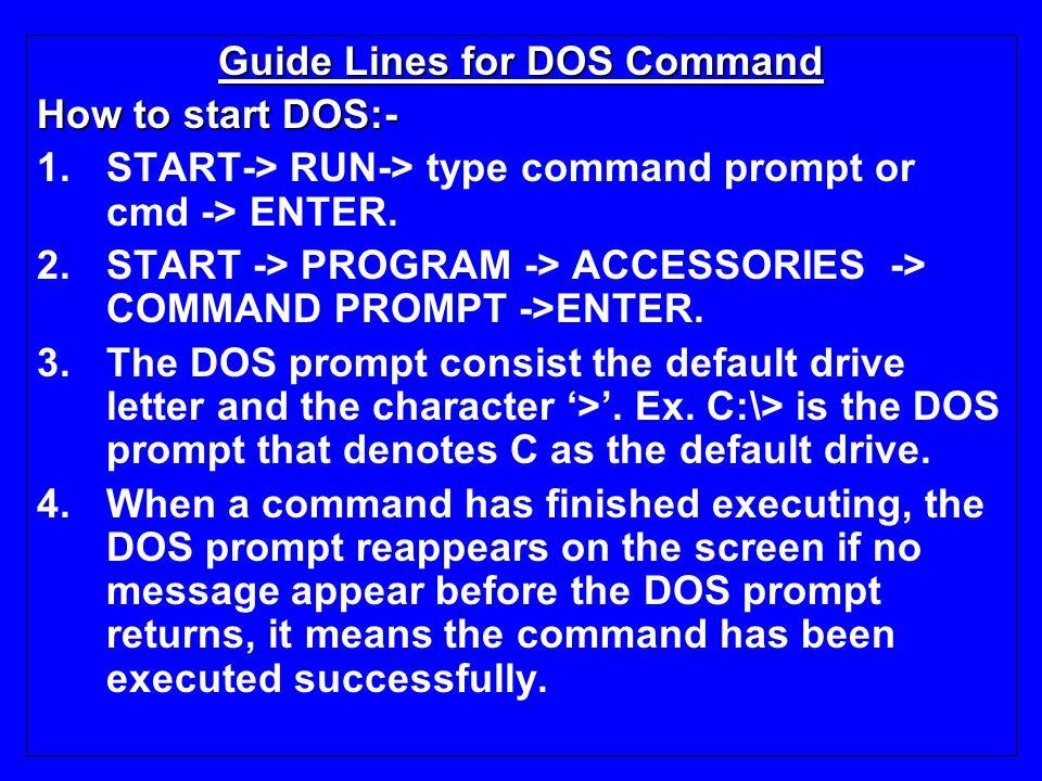 dos command line