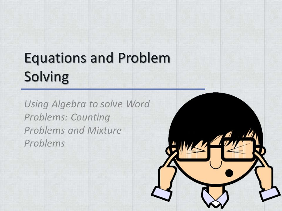 Solving word problems algebra