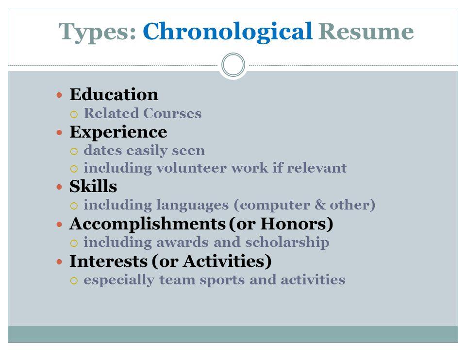 types of skills resume