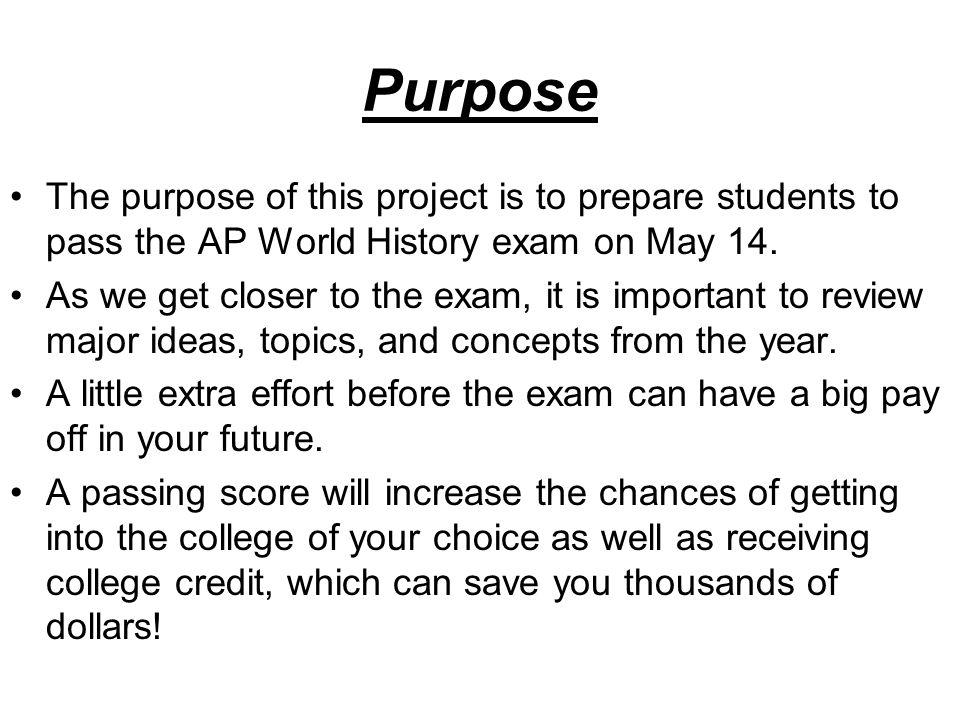 AP World History DBQ project?