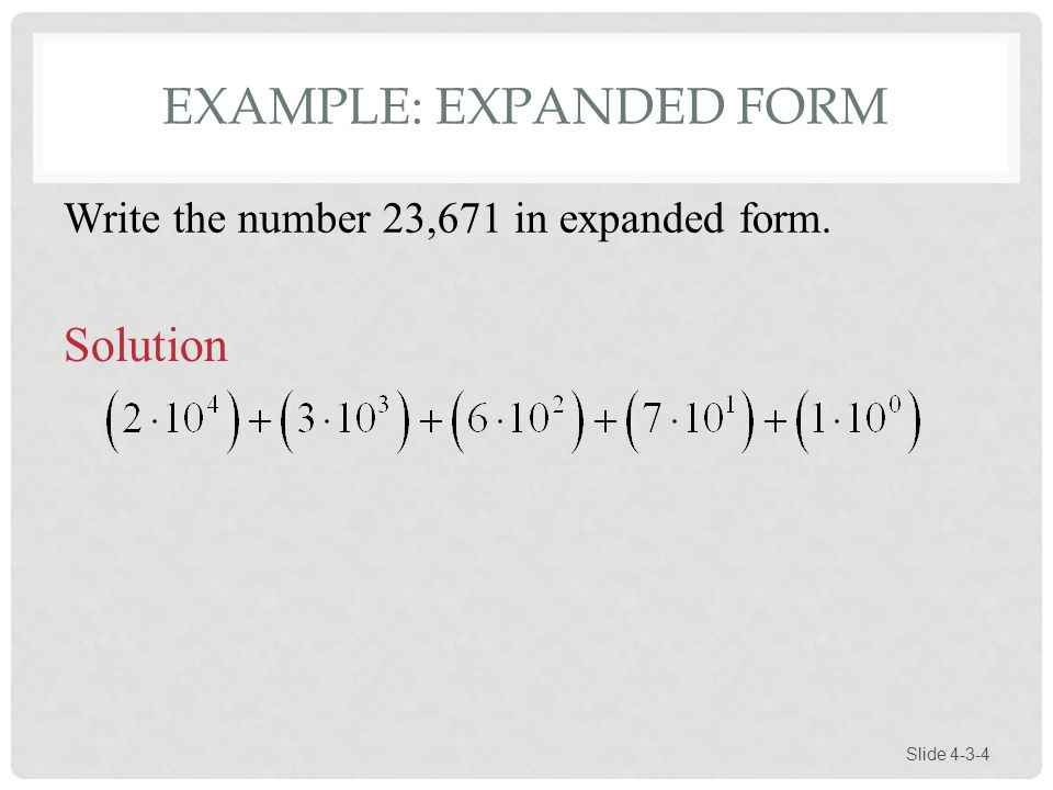 SECTION 4-3 Arithmetic in the Hindu-Arabic System Slide ppt download