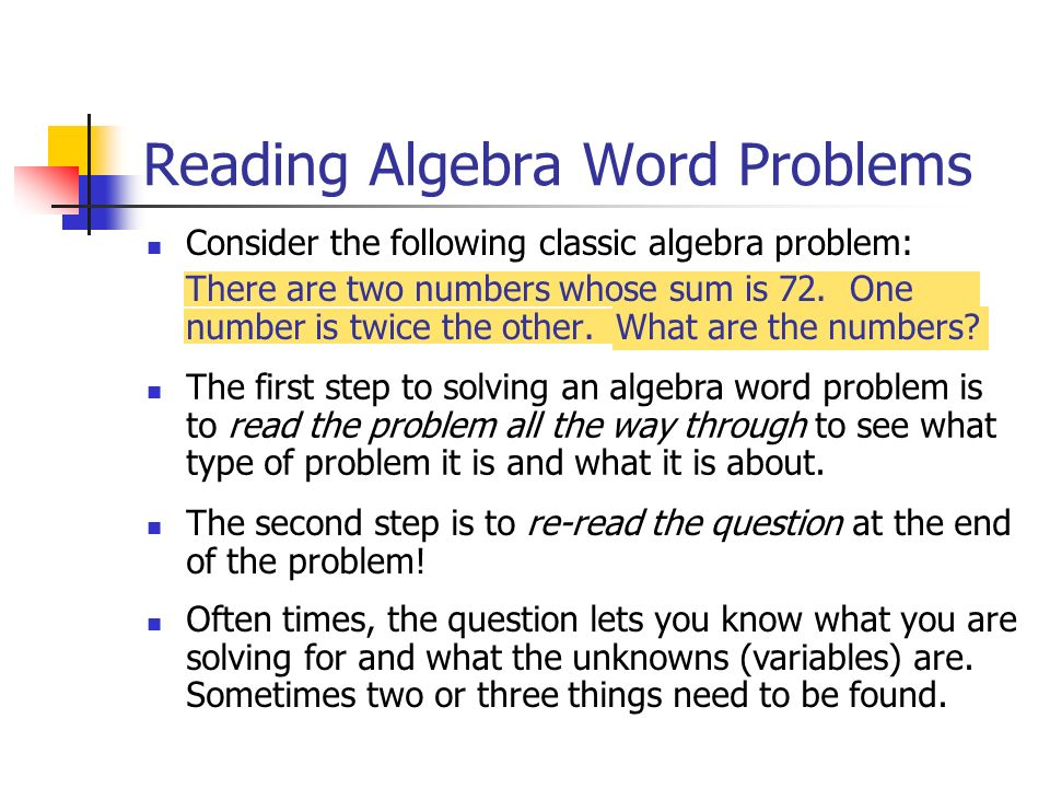 Help Solving Word Problems