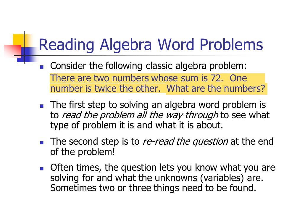 help solving math word problems