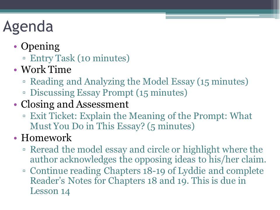 Argumentative essay unit