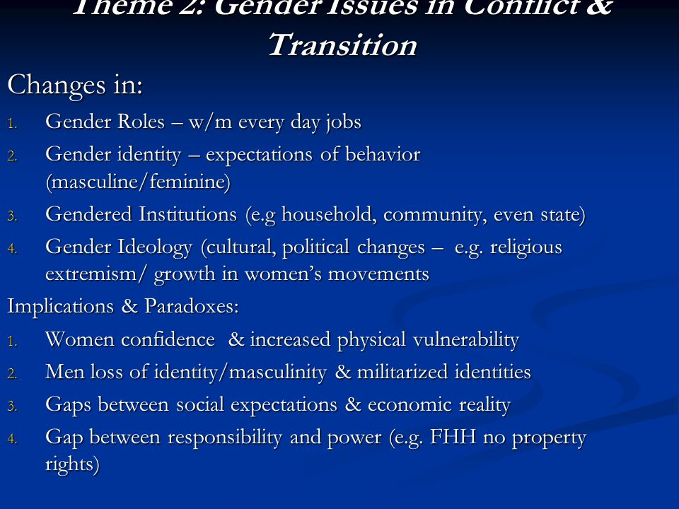 gender roles in transition