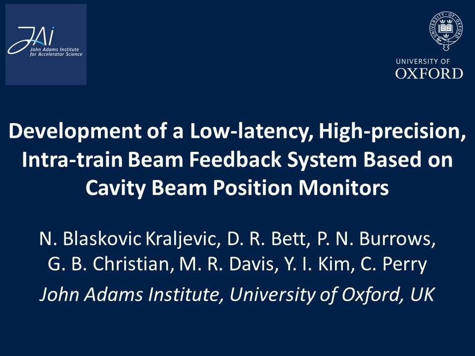 Bett Position development of a low latency high precision intra beam