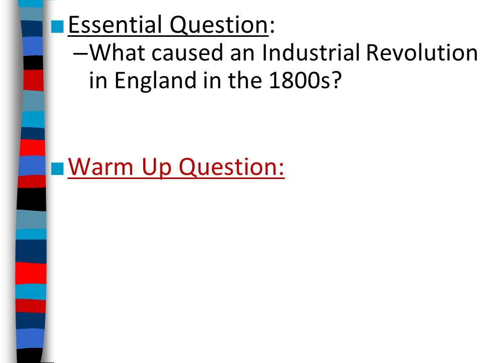 argumentative essay industrial revolution