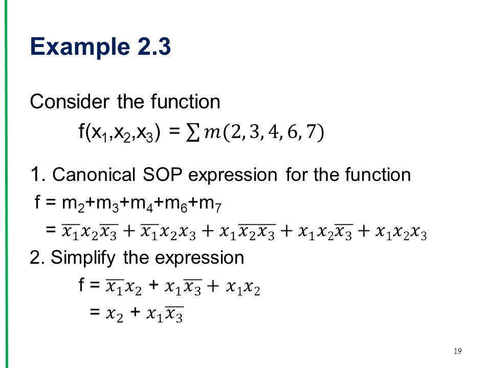Example 2.3 19