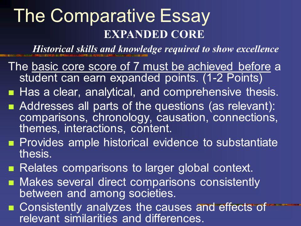 3 types of essays on ap world exam scoring