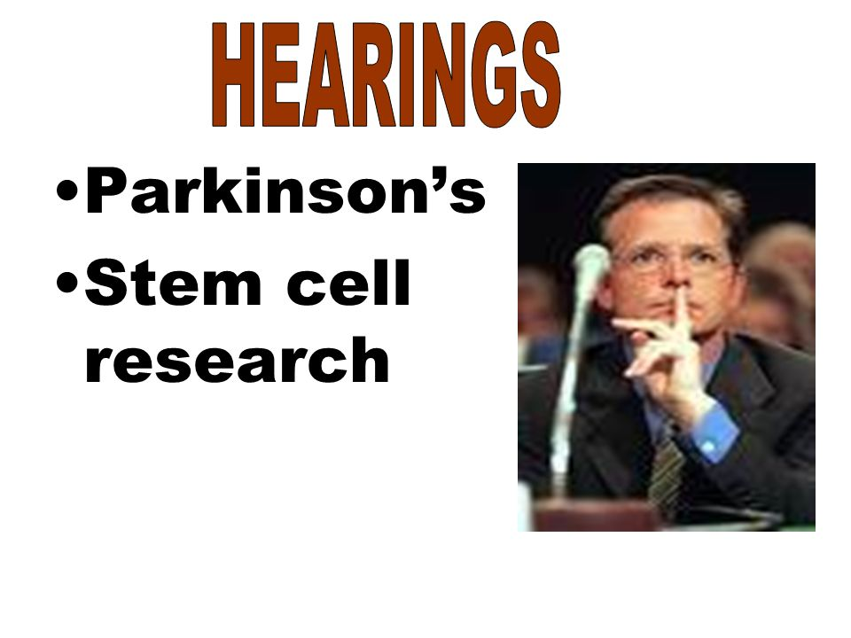 Parkinson's Stem cell research
