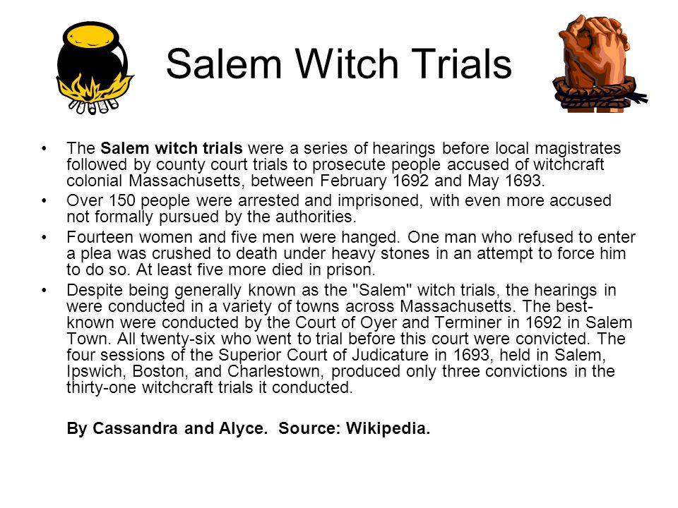 Mr Van Kampen s Class American History Mr Van Kampen s Class  Mr Van Kampen  s Class American History Mr Van Kampen s Class    Salem witch trials research