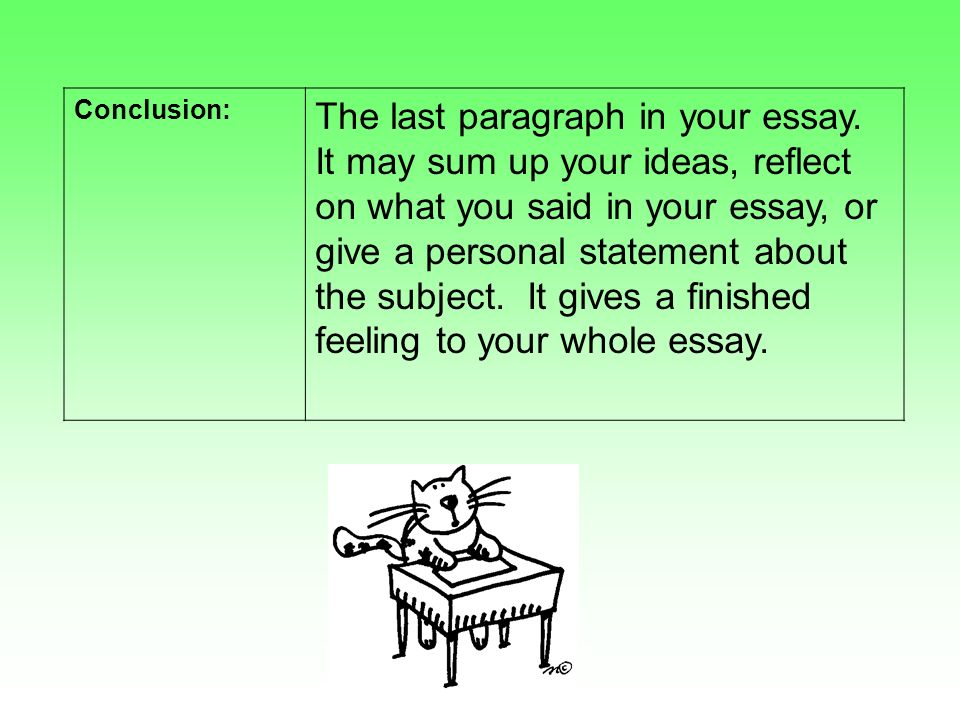 writing a conclusion paragraph in an essay
