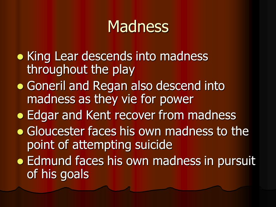 king lear themes to analyze various general themes ingratitude of  3 madness king lear