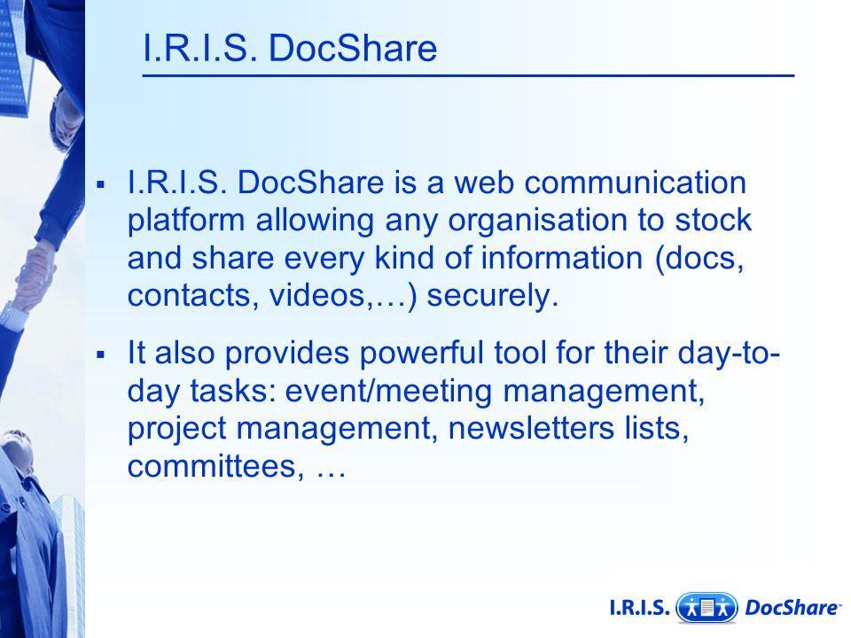 I.R.I.S. DocShare  I.R.I.S.