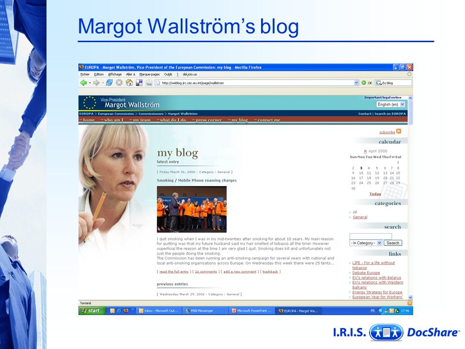 Margot Wallström's blog