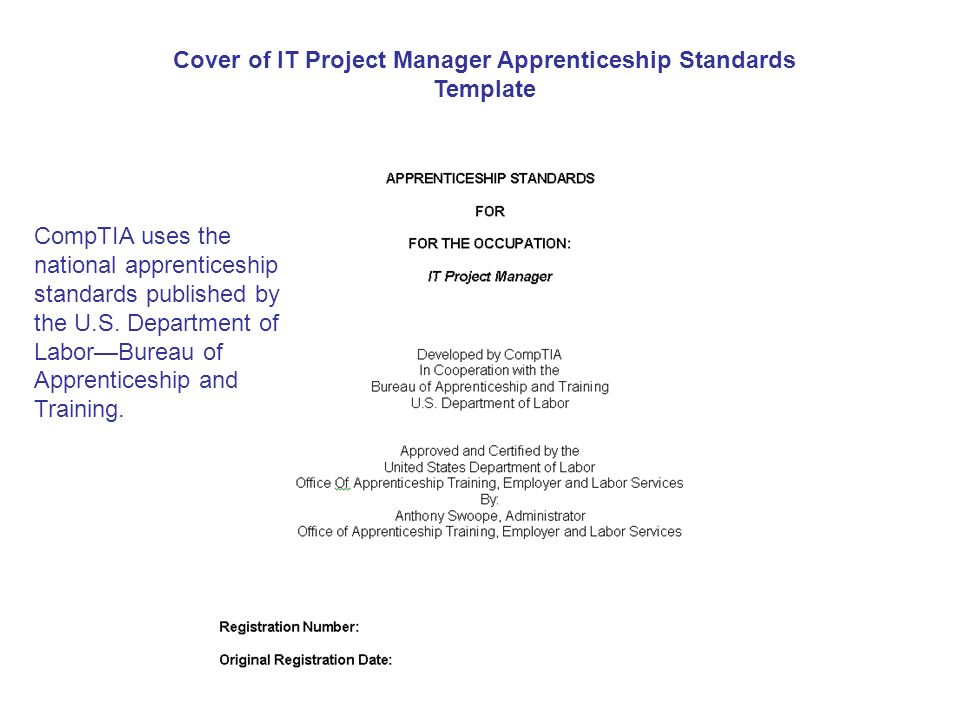 Creating And Registering An IT Apprenticeship Using The CompTIA IT - National standards of apprenticeship for us map