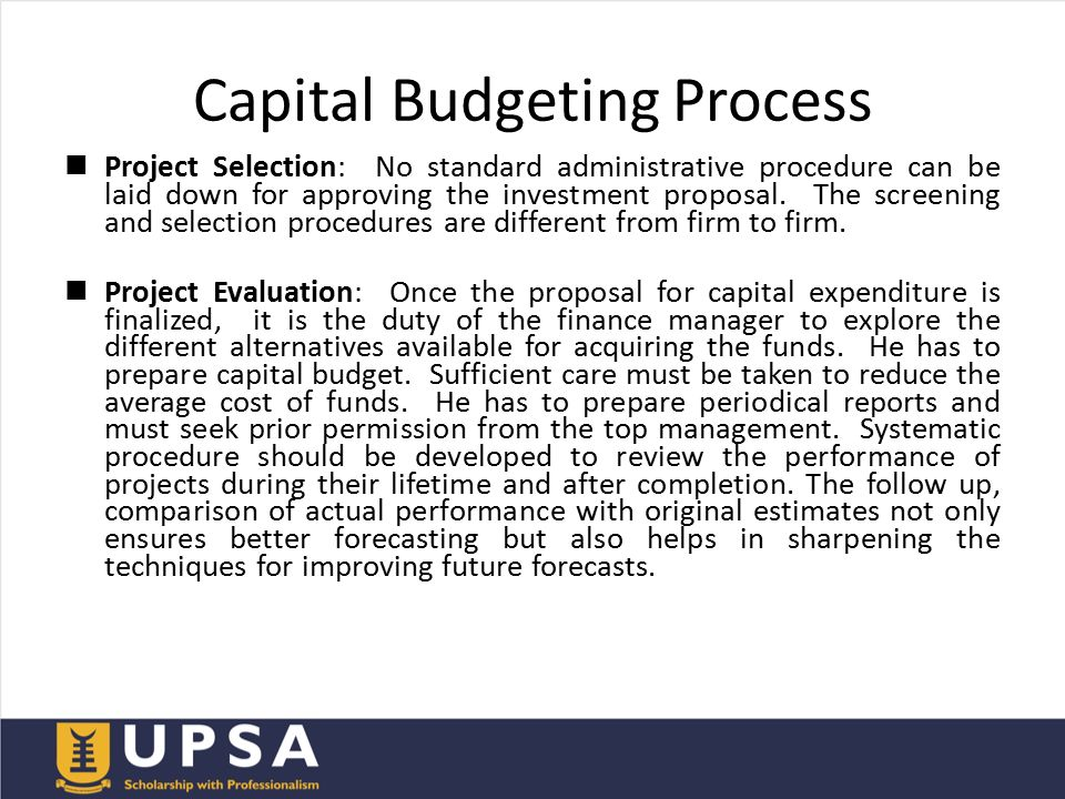 the many important consequences for capital budgeting Capital budget renegotiations and the adverse consequences of delegating a second important feature is that capital budgeting is a dynamic process.