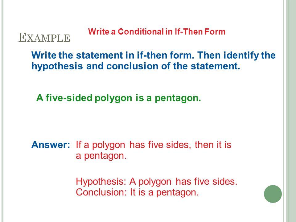 2-3 C ONDITIONALS. S TATEMENTS Conditional statement A statement ...