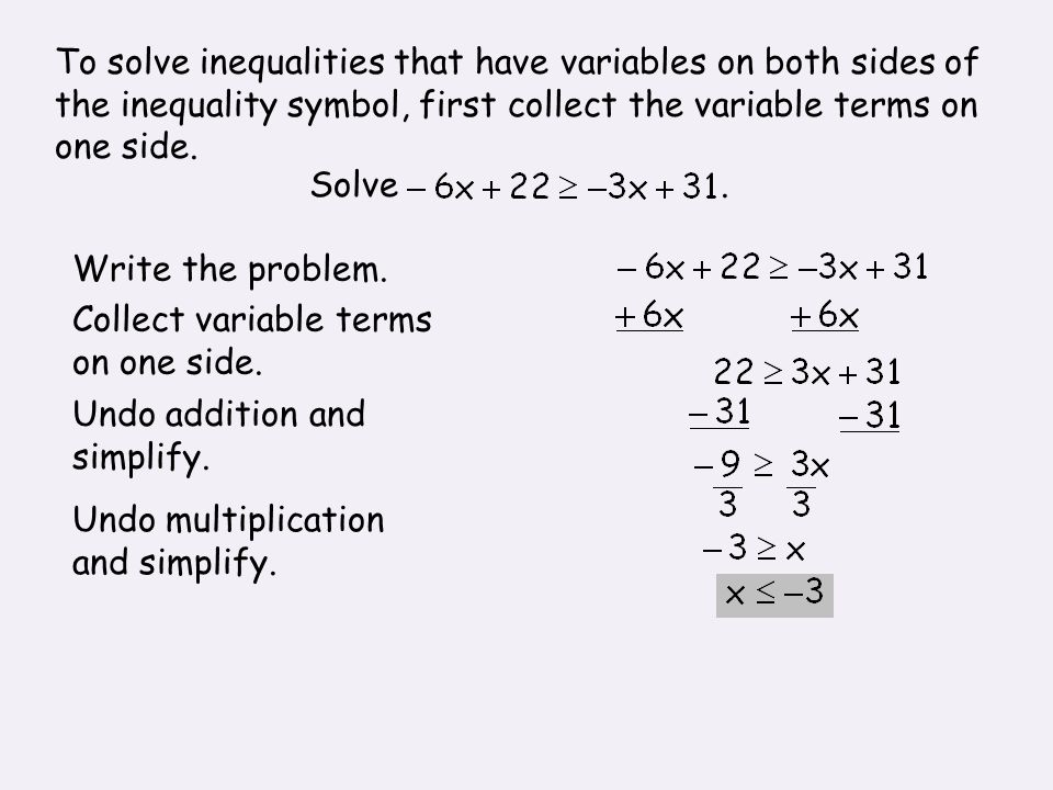 6 3b Solving Multi Step Inequalities Algebra 1 Glencoe Mcgraw