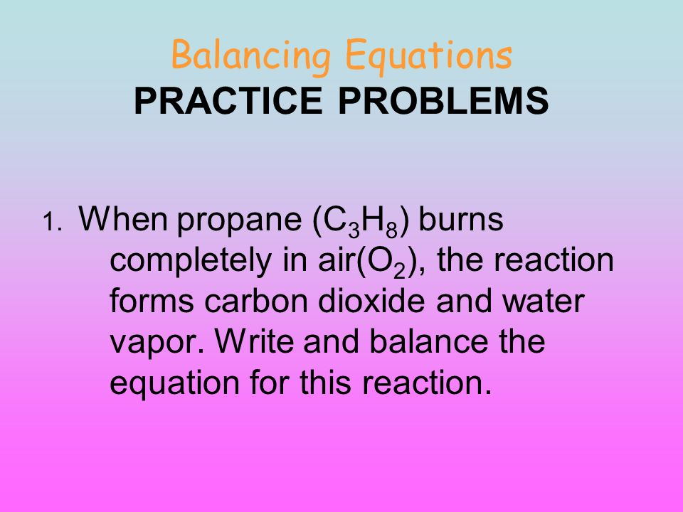 Identifying And Balancing Chemical Equations Worksheet Answers – Balancing Chemical Equations Chapter 7 Worksheet 1 Answers