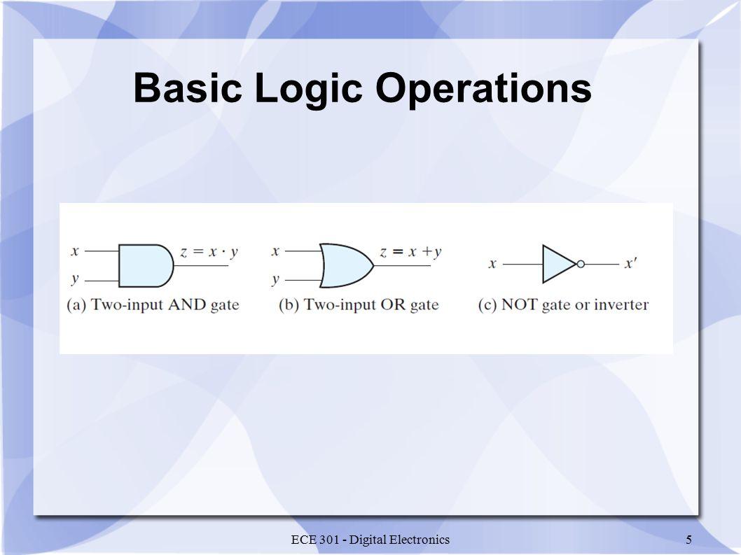 ECE 301 - Digital Electronics5 Basic Logic Operations