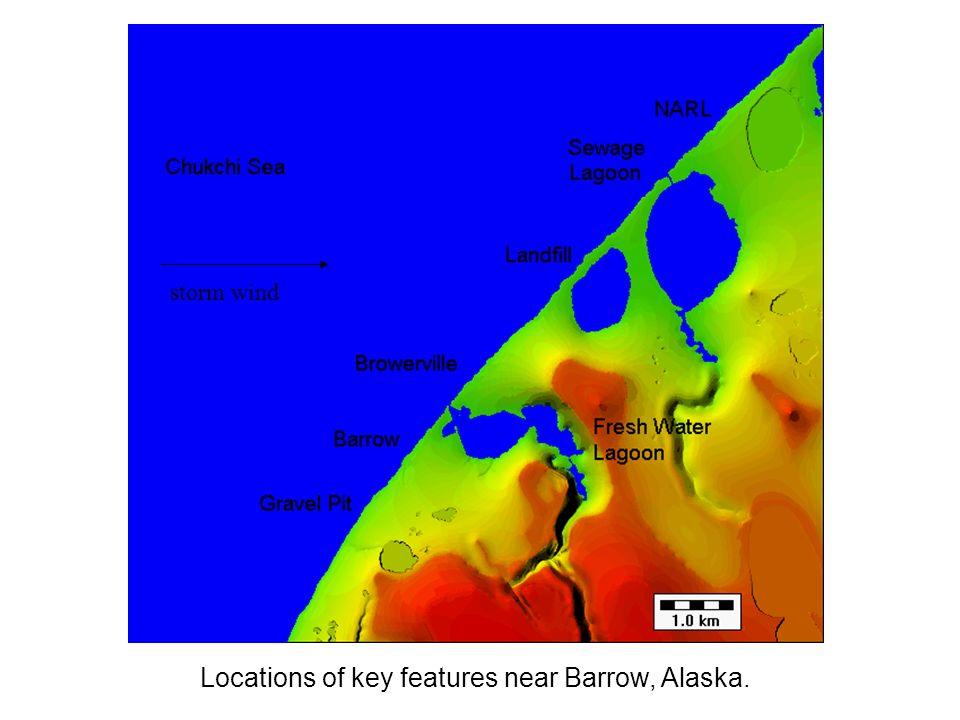 Modeling coastal erosion near barrow alaska scott d peckham 5 locations of key features near barrow alaska storm wind gumiabroncs Image collections