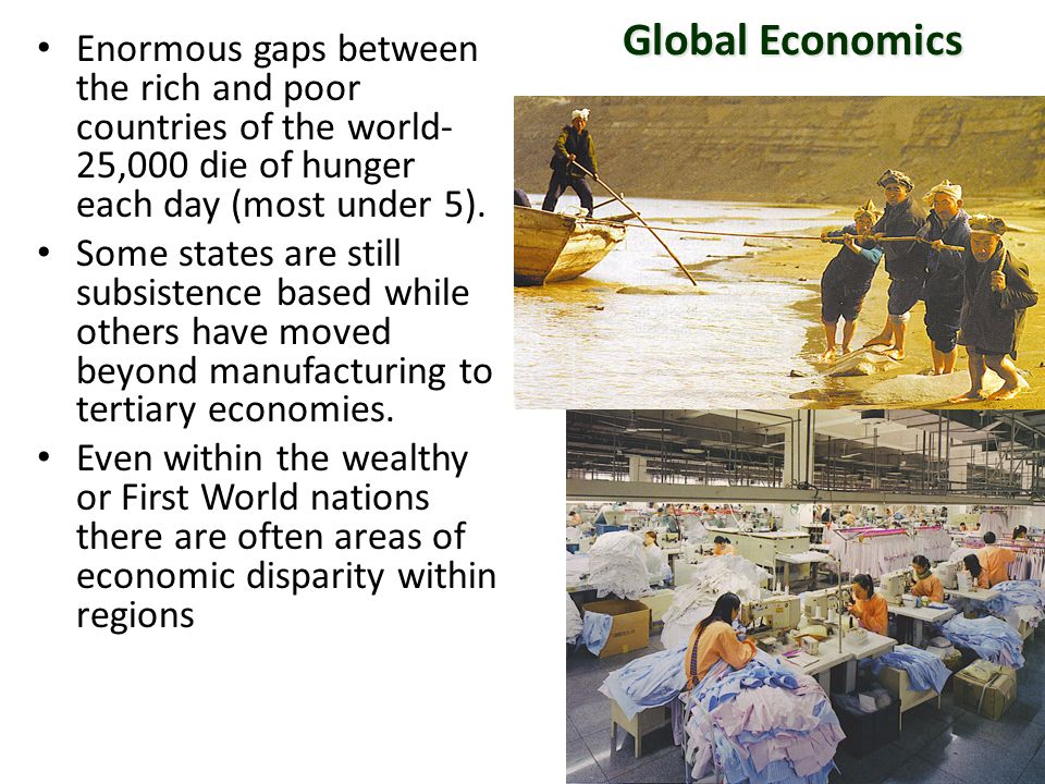 Global Economics Enormous Gaps Between The Rich And Poor Countries - Rich and poor countries