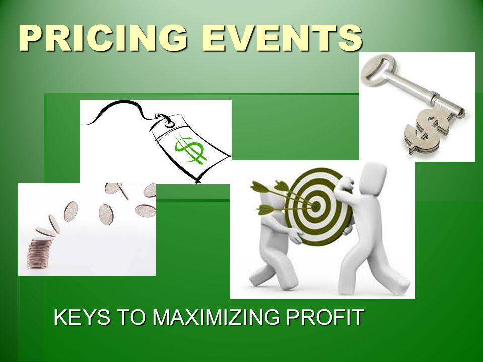Pricing events keys to maximizing profit basic pricing formula 1 pricing events keys to maximizing profit sciox Gallery