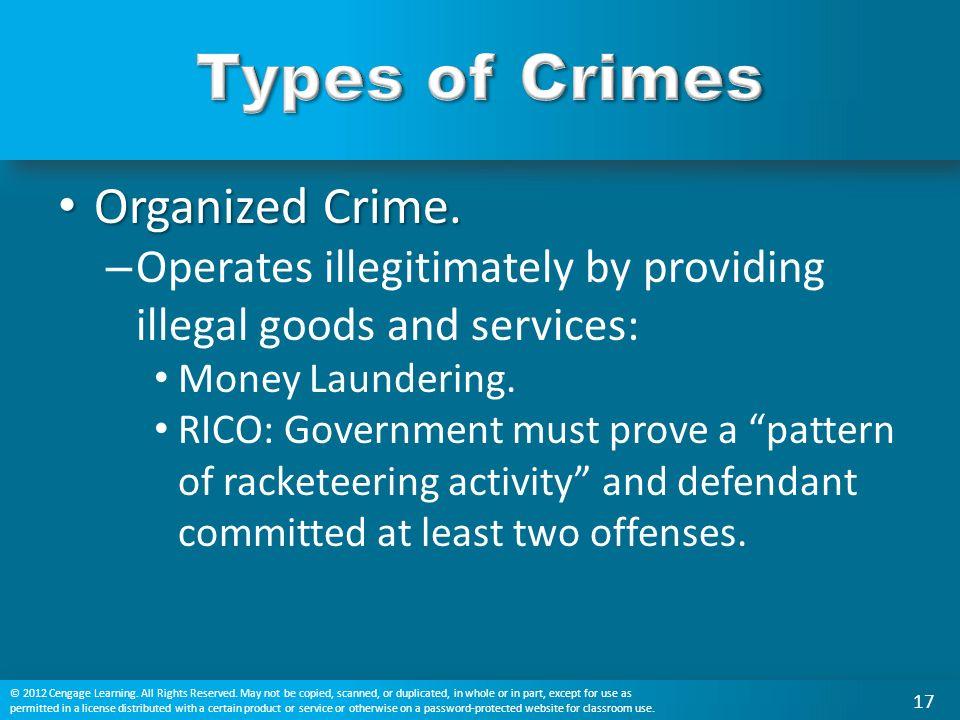 Organized Crime. Organized Crime.