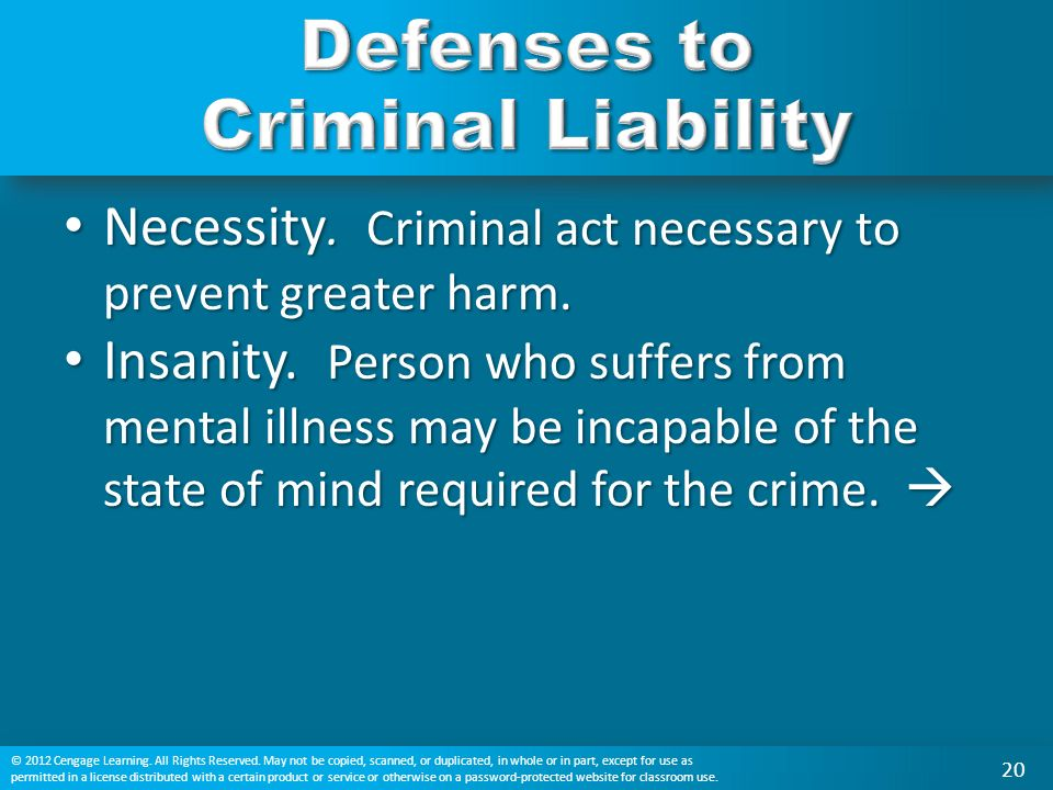 Necessity. Criminal act necessary to prevent greater harm.