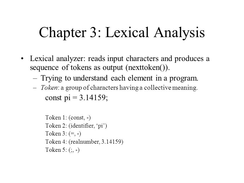 Review: Compiler Phases: Source program Lexical analyzer Syntax ...